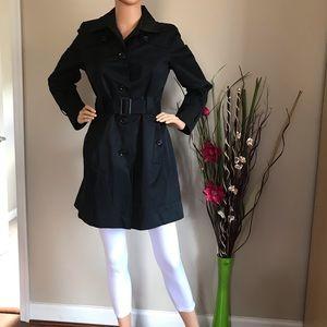 Tommy Hilfiger Women's Black Trench Jacket